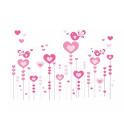 Winhappyhome Heart Love Wall Art Stickers for Bedroom Living Room Background Removable Decor Decals