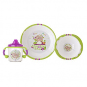 'Crockery Set 3 Pieces Funny Farm ""