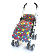 Genesis Universal Grey Multi Spot Soft Fleece Footmuff Cosytoes & Buggy Liner