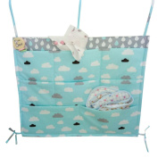 Highdas Multilayer Pouch Hanging Storage Bag Nappies Toys Cots Crib Organiser