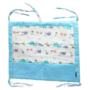 Highdas Multilayer Nursery Baby Multifuncitional Cotton Cartoon Bed Hanging Nappy Storage Bag
