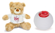 I Love You Teddy Bear and Bath Bomb Fizzer Gift Set