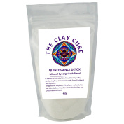 Quintessence Detox Bath Blend - 450g - featuring Epsom Salt, Himalayan Rock Salt, Red Sea Salt & Diatomaceous Earth