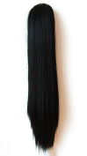 "PRETTYSHOP Hairpiece Ponytail Clip on Extension Long hair smooth Heat-Resisting 20""(50cm) Ombré black brown # 1BT27 H110"