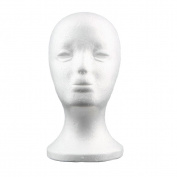 Styrofoam Foam Mannequin Manikin Head Model Wig Hair Glasses Hat Display