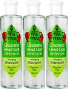 SIX PACKS of Escenti Tea Tree Children's Head Lice Defence Shampoo 300ml