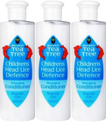 SIX PACKS of Escenti Tea Tree Childrens Head Lice Defence Conditioner 300ml