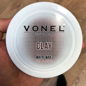 VONEL HAIR STYLING WAX - POMADE - MATTE WAX - CHOC SCENT - PRO BARBERS FINISHING PRODUCT - NEW 2017 - EASILY WASHES OUT FROM HAIR - 150ml - SIMILAR TO UPPERCUT MATT POMADE & FUDGE