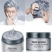 HailiCare 120g Silver Grey Hair Wax Men Women Professional Hair Pomades, Long-lasting Moisturising Modelling Hair Styling Fluffy Matte Hair Mud Gel Cream