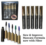 5 Colour Set Fibre Mascara Doll Eye Style (Black, Blue, Green, Purple, Brown) by eyes