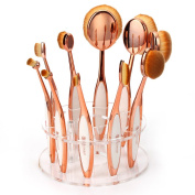 Oval Makeup Brushes ,Neverland Professional 10 Pieces Makeup Brush Set with 10 Hole Oval Makeup Brush Holder