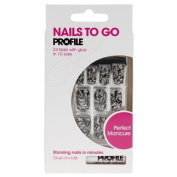 Salon System Nails to Go Profile 24 Nails with Glue - Lace by Nails to Go Profile