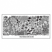 Plate BM XL 109 Bundle Monster Flowers Feather for Nail Art Stamping Template