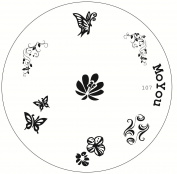 Original Stamping Image Plate number 107 by MoYou Nails - Manicure Nail Art Design Accessories Used to Create Beautiful and Fashionable Nails
