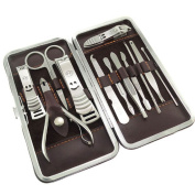 Supply EU 12-Pieces Nail care Personal Manicure & Pedicure Set, Travel & Grooming Kit Tools