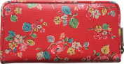 Cath Kidston Woodland Rose Zip Around Oilcloth Wallet/Purse in Red