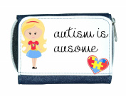 Autism Is Ausome (Awesome) Autism Awareness Character G3 Girl With Long Blonde Hair Purse - Blue