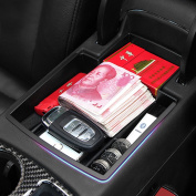 2015 Latest Car Glove Box Armrest Storage box Organiser Centre Console Tray fit Audi Q5 2008-2015 ABS Plastic ,This item fits in the centre console and adds an extra layer for stoats space.