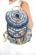 t*fd Shoulder Bag, dunkelblau gold bunt (blue) - 8228