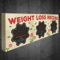 Red Ocean Dieting Weight Loss Record Plaque Progress Sign Chalkboard Weight Watchers Aid