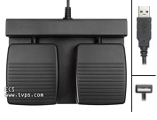 ECS-DRAGON-FP-2B Two Button Hands Free Foot Pedal for Dragon
