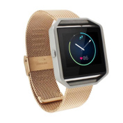 Sunfei ®Genuine Steel Watchband Wrist Band Strap For Fitbit Blaze Activity Tracker watch