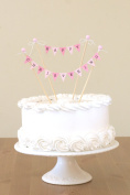 Amazing Buntings - Happy Christening - Cake Bunting Topper - Pink 83