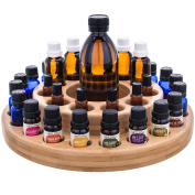 Essential Oil Wooden Storage Carousel. Organise your 10ml, 30ml and roller bottles.