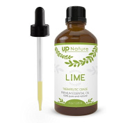 UpNature The Best Lime Oil 120ml - 100% Pure & Natural, Undiluted & Unfiltered, GMO-Free, Premium Quality - With Dropper Made of Glass - Perfect Use With Aromatherapy Diffuser & Massage Oil