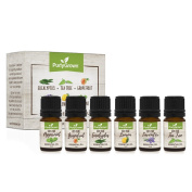 New Purly Grown Aromatherapy Premium Essential Oil Set of Top 6, 5ml - Includes