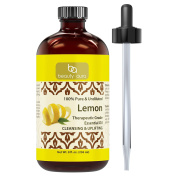 Beauty Aura 100% Pure Lemon Essential Oil – 240ml Made from Real Lemon peels Ideal for Aromatherapy & for DIY Products