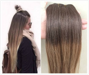 46cm Straight 100gr Full Head 100% Real Clip in Human Hair Extensions, Balayage Ombré