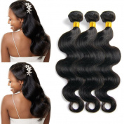 Babe Hair 100% Virgin Malaysian Human Hair Body Wave 7A Natural Human Hair Weave 3 Bundles Black Remy Hair Extensions Unprocessed
