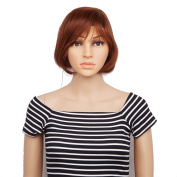 Veracicky Women Fashionable Short Straight with Bangs Wigs for Party Daily Use