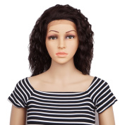 Veracicky Charming Wigs Women Party Sexy Full Curly Hair Lace Frontal Wig Human Hair Natural Looking Wigs+A Free Wig Cap