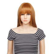 Veracicky Charming Wigs Women Party Sexy Full Hair Wig Human Hair Natural Looking Wigs+A Free Wig Cap