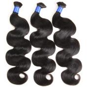 "Gluna Hair Brazilian Virgin Hair For Braids 3Pcs Human Braiding Hair Bulk Wet and Wavy Brazilian Bulk Hair For Braiding 18""18""18"""