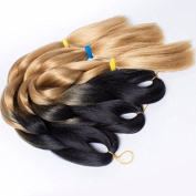 1pc Jumbo Braid Hair Two Tone Ombre Kanekalon Braiding Synthetic Hair Extension 100g 60cm