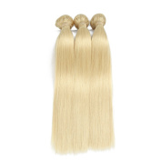 ALLRUN 613 Blonde Virgin Hair Straight 3 Bundle Deals Blonde Brazilian Hair Weave Bundles Honey Blonde Weave Brazilian Virgin Hair