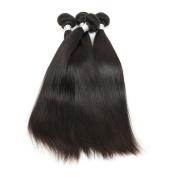 8A Brazilian Virgin Hair Straight 4 Bundles Thick Unprocessed Virgin Brazilian Straight Hair Natural Colour