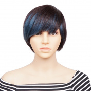Veracicky Charming Wigs Short Women Party Sexy Full Hair Wig Human Hair Natural Looking Wigs+A Free Wig Cap