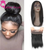 Queen Plus Hair New Arrival 360 Full Lace Band Frontal Closure Natural Hairline & Adjustable Strap Silky Straight Weave with 3 Bundles Healthy 7A Brazilian Virgin Human Hair