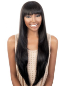 Sexy Long Straight Women Wigs with Bang Synthetic Wig