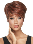 Short Fashion Women Wigs Cool Mixed Colour Curly Fluffy Wig
