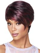 Short Fashion Women Wigs Winered mixed Black