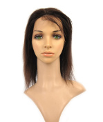 Quercy Hair Indian Remy Hair Hand Made Lace Front Wig Black Colour Straight Style 130 Denisity For Black Women