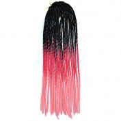 Deercon Womens Black Wig Twist Braid African Pigtail Hollow Colourful Braid Wig