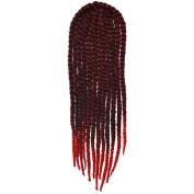 Deercon Womens 60cm Wig Twist Braid Hair Extension African Braids
