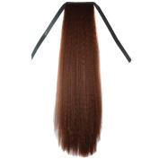 Deercon Womens Wigs Long Straght Hair False Ponytail 70CM