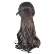 Deercon Womens Wigs Long Curly Hair False Ponytail